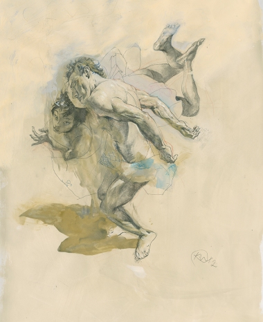 2012, pencil, charcoal, gouache on paper, 23 x 17 in., 60 x 43 cm.